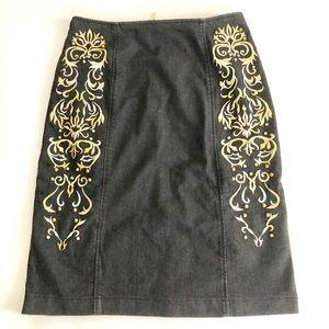 Antthony Studios Black Denim Skirt NWT Sz 6